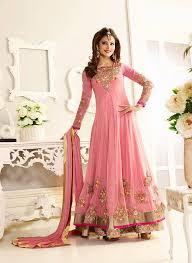light pink zubeda party wear anarkali suits online
