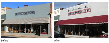 painting canvas awnings before and after revitalizingdowntownwaynesboro org