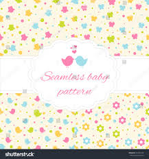 set four seamless baby pattern owl stock vector 294635720