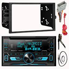 kenwood dpx302u double 2 din cd mp3 car stereo receiver bundle