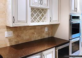subway travertine beige brown backsplash tile brown countertop
