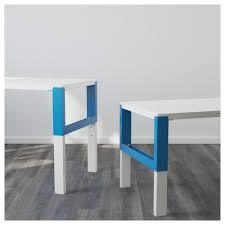 Wo Schreibtisch Kaufen Poly Schreibtisch Mit Zusatzmodul Weiß Blau 391 289 55