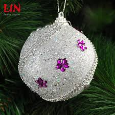christmas trees pendant 8cm silver foam decorative decoration