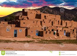 new mexico house adobe houses in the pueblo of taos new mexico usa stock photo