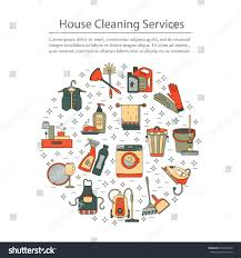 house cleaning vector card cleaning companies stock vector