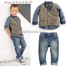 2018 2015 boys clothes boys shirts vest denim