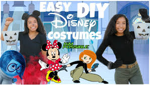 super easy diy disney halloween costumes 2015 youtube