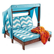 Childrens Chaise Lounge Kidkraft Double Chaise Lounge Outdoor Furniture Blue Stripe
