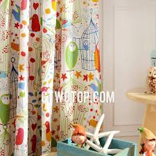 Colorful Artsy Bird Kids Room Darkening Curtains - Room darkening curtains for kids