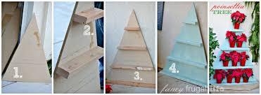 How To Make Tree Bookshelf Stacked Poinsettia Tree Shelf U0026 Christmas Wreath Chandelier
