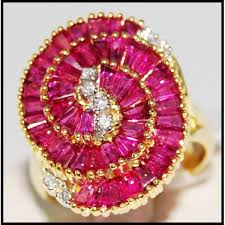 red emerald rings images Circle for men red ruby and diamond ring 18k yellow gold r0062 jpg