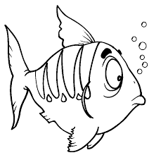 fish pictures print color kids coloring