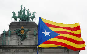 Flag Of Catalonia Thousands Of Pro Independence Catalans From All Over Europe Gather