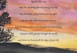 thanksgiving blessing poems a visible voice apache blessing