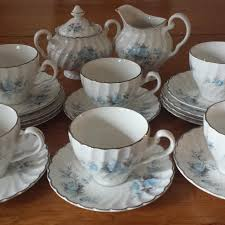 Blue Roses For Sale Find More Vintage Johnson Bros Ironstone Snow White Regency 21 Pc