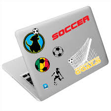 soccer sportstics reusable stickers for laptops etc soccer sportstics reusable stickers for laptops cars walls more