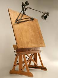 stacor drafting table drafting table with light box furniture antique vintage drafting