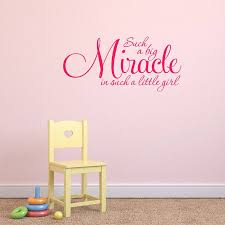 girl s nursery quote wall sticker by mirrorin notonthehighstreet com girl s nursery quote wall sticker hot pink