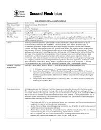 Resume Samples For Electricians by Resume Samples For Electricians