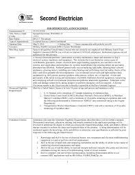 Sample Resume Objectives For Maintenance Mechanic by Sample Resume For Electrical Maintenance Technician Free Resume