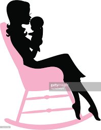 Mother S Rocking Chair Rocking Chair Silhouette