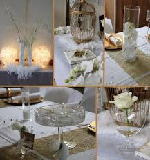 dã coration mariage white and gold décoration blanc et or mariage