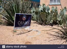 barrack obama for president sign outside of house in southwestern