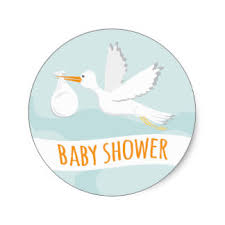 stork baby shower stork stickers zazzle