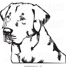 labrador retriever clipart tribal pencil and in color labrador