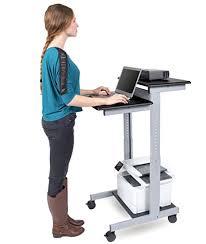 standing computer desk amazon mobile standing desk computer workstation black desk length 60cm