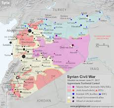 Map Of Syria Google Search Maps Pinterest by Map Of Syrian Civil War Syria Control Map Fighting And