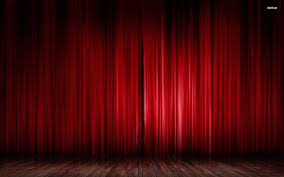 red stage curtain walldevil