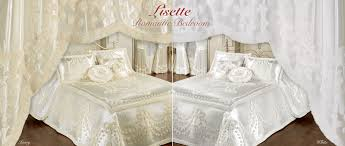 White Romantic Bedrooms Romantic Lisette Bedspread Bedding Touch Of Class
