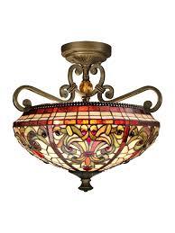 Interior Antique Ceiling Light Fixtures - dale tiffany th13090 baroque semi flush mount light fixture
