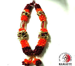 decorative beaded floral fancy mala amazing garland for god statue