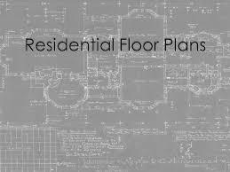residential floor plans ppt video online download