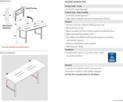 Folding Shower Seat Con Serv Folding Shower Seat
