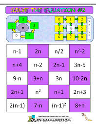 solving equations fun worksheet worksheets