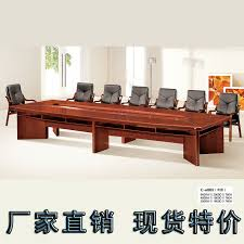 Wood Conference Table Meters Office Meeting Table Solid Wood Discuss Table Open Table