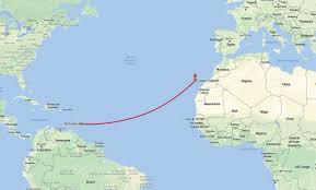 Canary Islands Map Map U2013 Solo Atlantic Ocean Row 2017