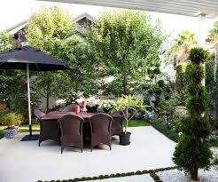 this picture perfect courtyard garden is small in size but