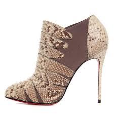 christian louboutin matte python lina 100 ankle boots roccia 39 5
