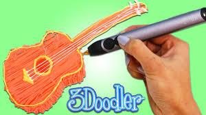 3doodler create 3d printing pen 3doodler how to make a guitar fun u0026 easy create your own 3d art