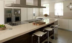 contemporary kitchen oak island lacquered great horkesley