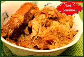 sweet tea and cornbread pork and sauerkraut