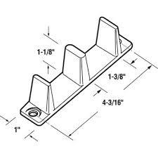 Closet Door Stopper Sliding Closet Door Floor Guide 1 3 8 Inch 2 Pack N 6563