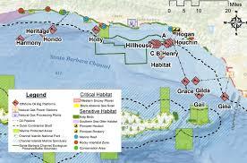 santa barbara california map where is fracking occuring cafrackfacts