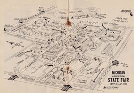 State Fair Map by Michigan State Fair 1954 U2013