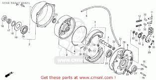 honda trx300 fourtrax 300 1994 r usa rear brake panel