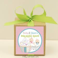 baby shower gender reveal party favor boxes with personalized